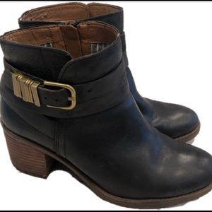 Lucky Brand Stalked Heel Black Booties